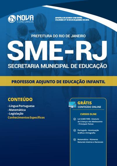 Pref Rio De Janeiro Rj Sme 2019 Prof Adj Educação Infantil