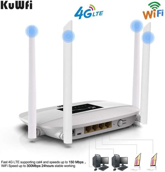 Modem Router Inalámbrico 4g Lte 300mps