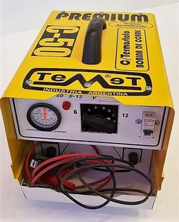 Cargador Rápido De Baterías 6 Y 12 Volts 50 Amperes Portátil