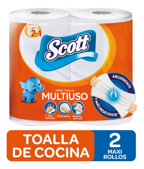 Toalla De Cocina Scott Multiuso 2x100h