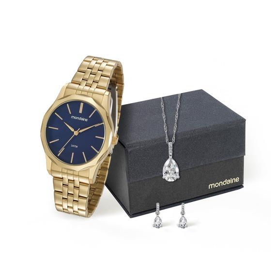 Kit Relógio Mondaine Feminino 99235lpmvde3ka