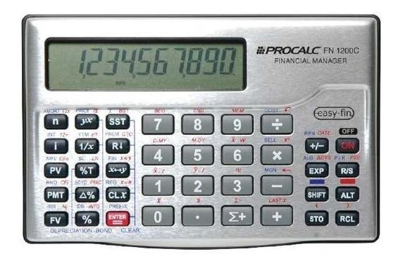 Calculadora Financeira Rpn E Algebrico Fn1200c Procalc