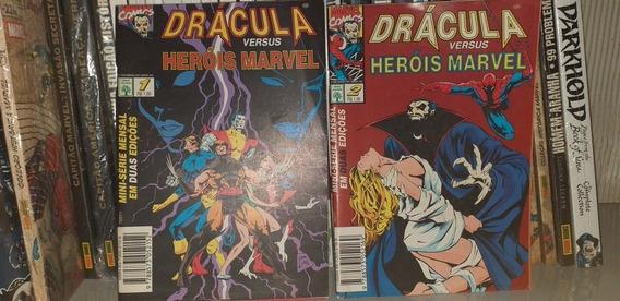 Drácula X Heróis Marvel, Abril, 1 E 2 (faço Módico)