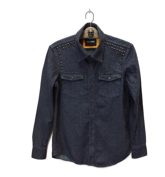 Camisa De Mezclilla Spike Marca Mecánico Jeans