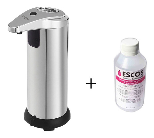 Dispenser Automatico Jabon Liquido Alcohol Gel Inoxidable