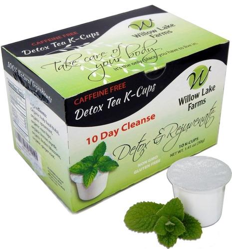 Willow Lake Farms 10 Día Mint Detox Té Limpiar K-tazas Decaf