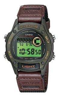 Reloj Casio Original Malla Cuero/lona Illuminator Wr50m