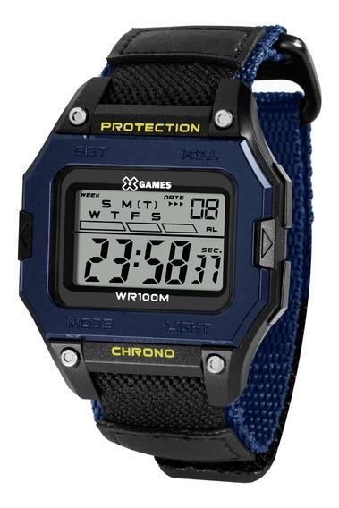 Relógio X-games Masculino Digital Xgppd136 Bxdp Azul Preto