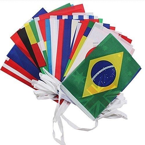 Llega El Mundial, 32 Banderas De Las Selecciones Participant