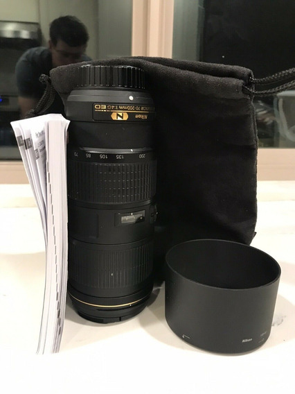 Lente Afs Nikkor 70-200mm F4 1.4g Ed Não F2.8