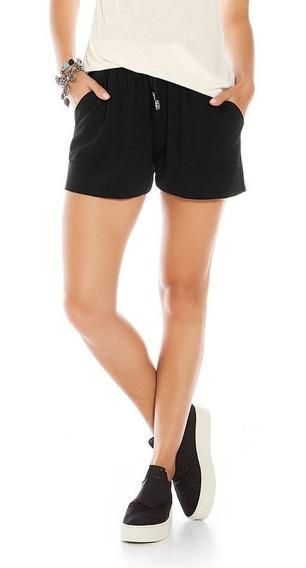Short Shorts Feminino Em Molecotton De Viscose Básico Confortável C/ Bolso Elástico P Ao Gg