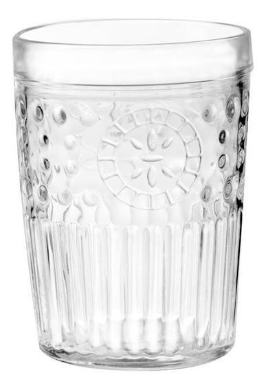 Vaso Marruecos Cristar Vintage Vidrio Resistente Caja X 24 U
