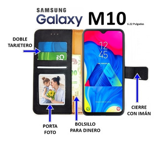 Funda Con Tapa Libro Billetera 360º Samsung M10 Rosario