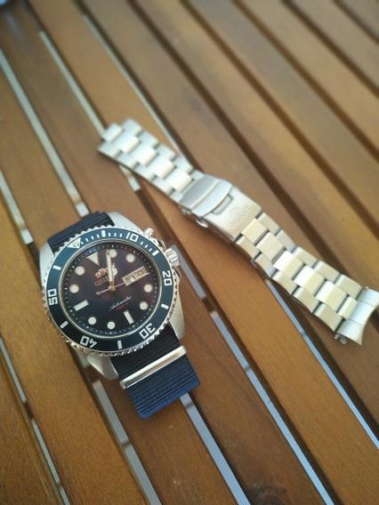 Relógio Orient Diver 469ss067 D1sx Automático Azul
