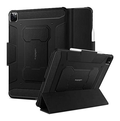 Imagen 1 de 6 de Funda Spigen Rugged Armor Pro iPad Pro 12.9 2020 Porta Lapiz