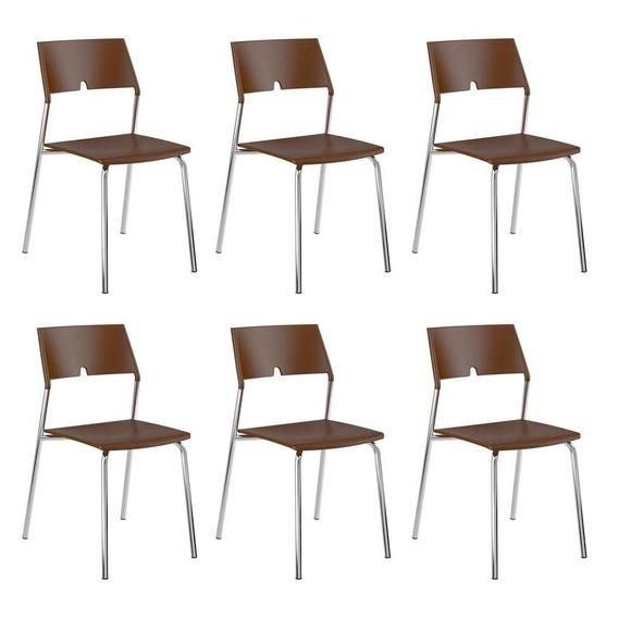 Conjunto Com 6 Cadeiras Cora Cacau