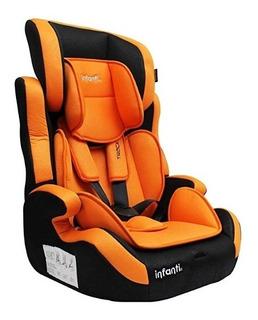 Autoasiento Tipo Booster Naranja Soporte Cabeza Ajustable