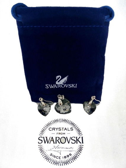 Conjunto Pendiente Collar Y Aros Cristal Swarovski Elements