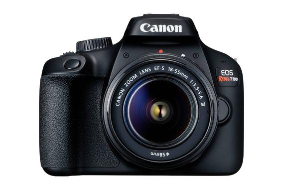 Cámara Digital Canon Rebel T100 18 Mp 1 Año Garantia