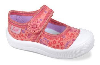 Zapatillas Guillerminas De Lona Con Velcro Para Niñas