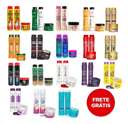30 Produtos (10 Kits) Shampoo + Condicionador + Máscara R2