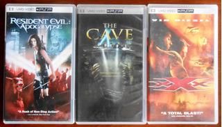 Películas Umd Originales Psp Resident Evil 2, The Cave, Xxx