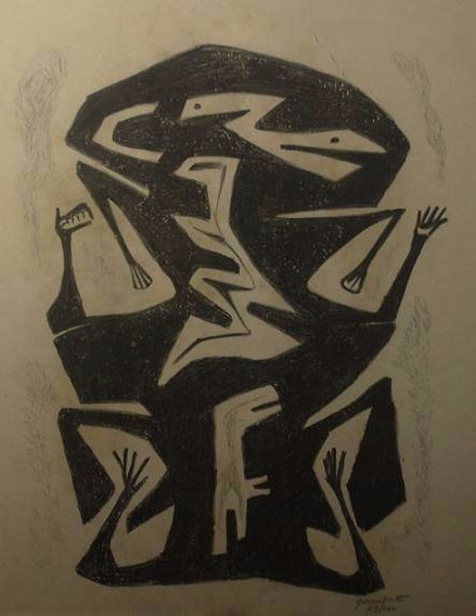 Leonidas Gambartes Serigrafia 29/100 Paye 37x28cm