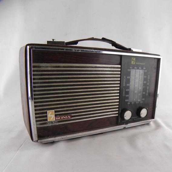 Rádio Antigo Sonia Wansat Super Luxi - Usado C/ Defeito