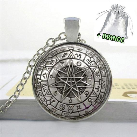 Colar Astrologia Wicca Pentagrama