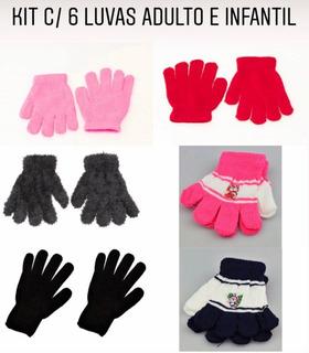 Kit Com 6 Luvas Infantil E Adulto - Kt11 // R$2,73 Cada