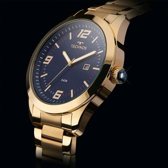 Relógio Masculino Technos Original Aço Dourado T24