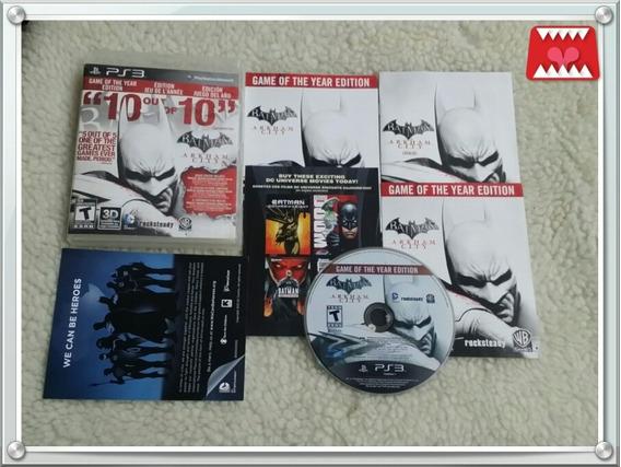 Batman Arkham City - Edição Do Jogo Do Ano Ps3 Mídia Física