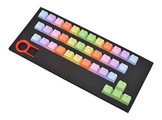 Bestwaytech 37 Claves Pbt Keycaps Doble Tirado Retroiluminad
