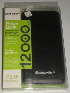 Carregador Portátil Bateria Power Bank Ecopower 12000mahc865