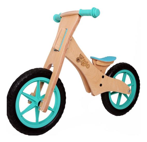 Bicicleta De Inicio De Madera Gio Dabus, Sin Pedales.
