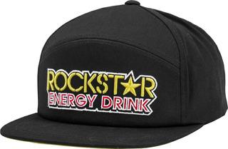 Gorra Casual Motocross Downhill Fly Racing Rockstar Negro