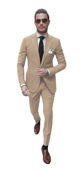 Saco Hombre Slim Fit Con Pantalon Camisa Zapatos Y Cinto De Vestir