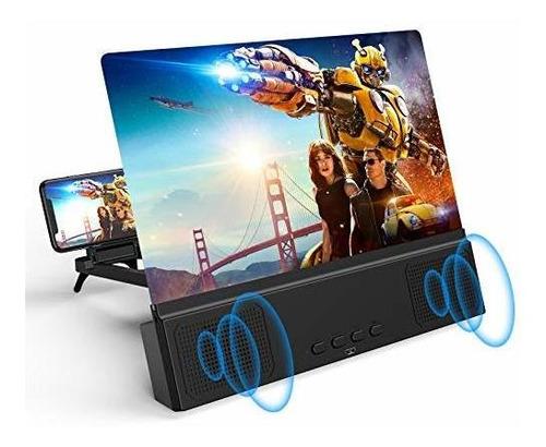 Ampliador Pantalla Telefono Celular Con Parlantes Bluetooth