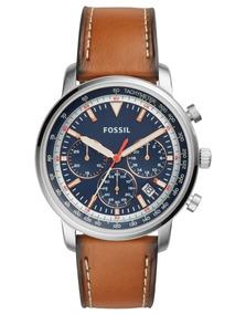 Relógio Masculino Fossil Fs5414/omn Pulseira Couro Marrom