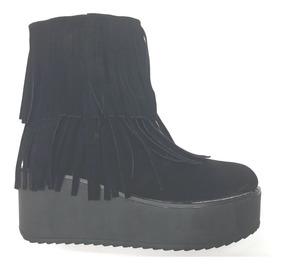Botas Botinetas Caña Corta Taco Chino Flecos Angies Shoes