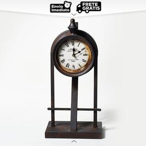 Relógio De Mesa Antique Decorativo Le Hotel De Canal Vintage