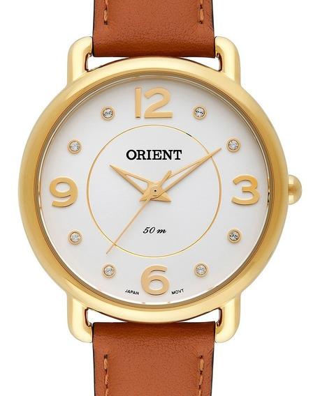 Relógio Orient Dourado Fgsc0010 S2mx Original + Nota