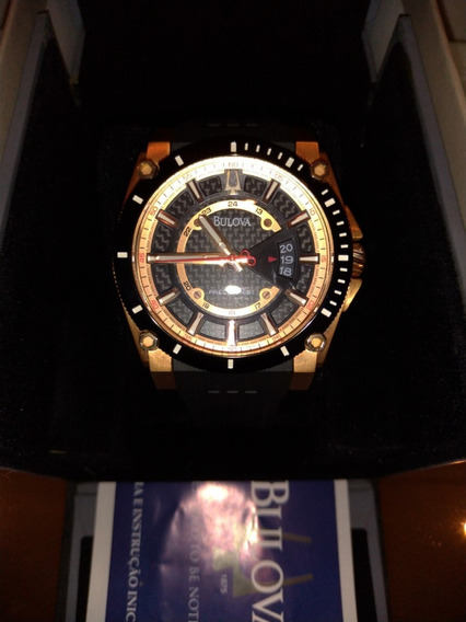 Relógio Bulova 98b152 Presicionist Uhf 262 Ouro Rose