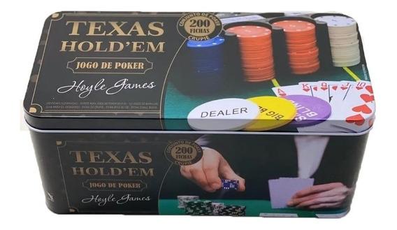 Jogo Lata De Poker 200 Fichas Numeradas Hoyle James Com Nf