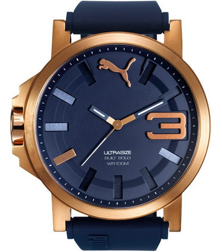 Relógio Puma Masculino 96252gppsru5 Azul Lindo De Vitrine