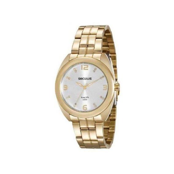 Relógio Seculus Feminino Casual Dourado 20539lpsvda1