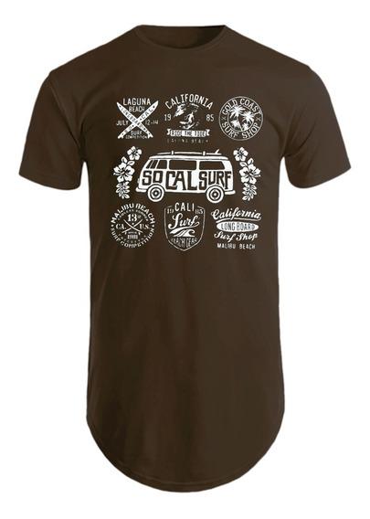 Camisas Masculinas Longline Camisetas Estampadas Socal