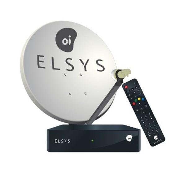 Receptor Elsys Oi Tv Livre Hd Etrs 35 Ou Erts 37 + Antena Oi