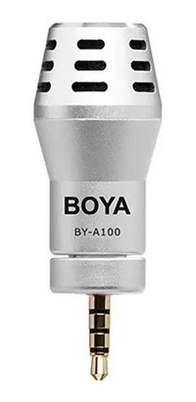 Microfone Condensador Boya By-a100 P/ Celular Smartphone- Pronta Entrega-envio Imediato-frete Grátis