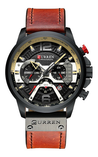 Curren Mens Watch Business Quartz Watch Couro De Luxo
